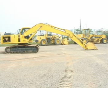 flat position excavator